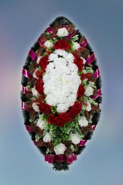 Венок из искусственных цветов Заказ-21