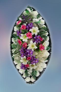 Венок из искусственных цветов Заказ-25