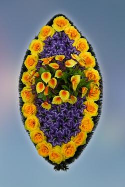 Венок из искусственных цветов Заказ-30