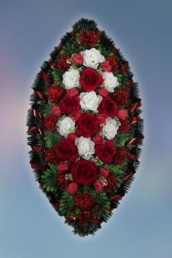 Венок из искусственных цветов Заказ-4
