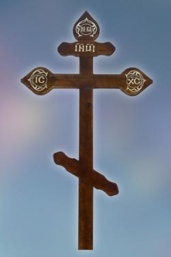 Крест сосна резной