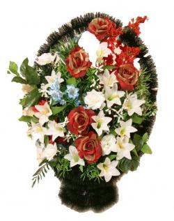 Корзина из искусственных цветов Ладья Элитная-2